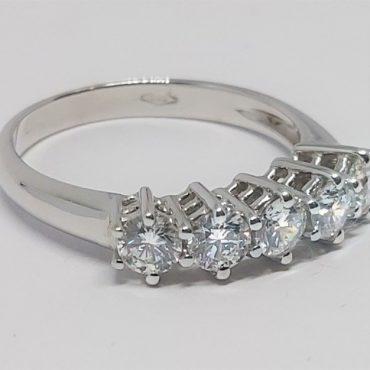 Anello diamanti 0.80 carati