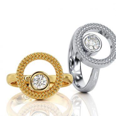 Anello di fidanzamento Cerchio Diamante