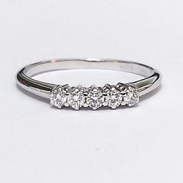 Anello fidanzamento Riviera diamanti