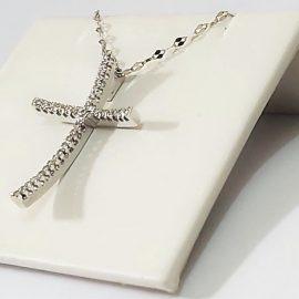 Catenina con Croce Diamanti