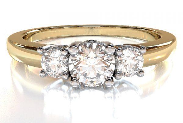 Anello Trilogy Diamanti